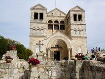 Kirche der Transfiguration in Israel Stockbild