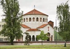 Kirche der Transfiguration in Sarajevo Schattierte Entlastungskarte mit HauptStadtgebieten lizenzfreie stockbilder