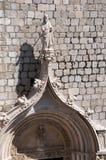 Kirche in der ummauerten Stadt von Dubrovnic in Kroatien Europa Dubrovnik wird ` Perle der Adria mit einem Spitznamen belegt Stockfotos