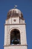 Kirche in der ummauerten Stadt von Dubrovnic in Kroatien Europa Dubrovnik wird ` Perle der Adria mit einem Spitznamen belegt Lizenzfreie Stockfotos