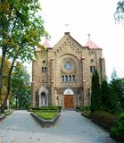 Kirche der Unbefleckten Empfängnis von gesegnetem Jungfrau Maria Stockbild