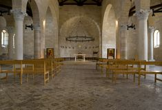 Kirche der Vermehrung in Tabgha Lizenzfreie Stockfotos