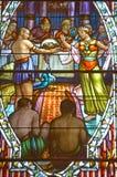 Kirche des Fensters des Buntglases Heilig-Leon-De-Westmount Stockfotografie