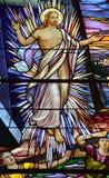 Kirche des Fensters des Buntglases Heilig-Leon-De-Westmount Lizenzfreie Stockfotos