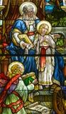 Kirche des Fensters des Buntglases Heilig-Leon-De-Westmount Lizenzfreie Stockbilder