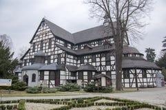 Kirche des Friedenshölzernen Erbes in Swidnica in Polen stockfotos