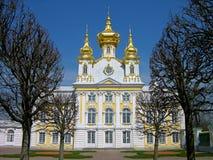 Kirche des großen Palastes, Peterhof, Russland Stockfotos