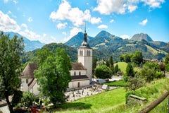Kirche des Gruyeres stockbilder