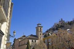 Kirche des Heiligen Gil und Heilige Anne in Granada spanien Lizenzfreies Stockbild