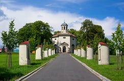 Kirche des Heiligen Henry, Petrvald, Tschechische Republik/Czechia stockbilder