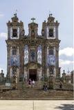 Kirche des Heiligen Ildefonso - Gebäude des 18. Jahrhunderts in der barocken Art Stockfotos