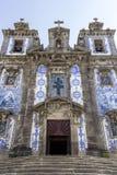 Kirche des Heiligen Ildefonso - Gebäude des 18. Jahrhunderts in der barocken Art Stockbilder
