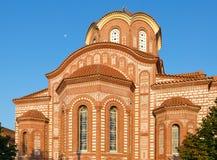 Kirche des Heiligen Paraskeva, Nea Kallikratia, Griechenland Stockbilder