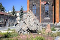 Kirche des heiligen Retters, der nach dem Erdbeben 1988 wieder aufgebaut wird Stockfotografie