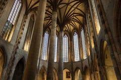 Kirche des Jacobins-Innenraums Stockfotografie