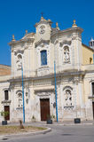 Kirche des Karmins. Cerignola. Puglia. Italien. Stockfotografie