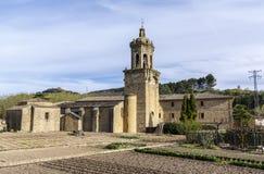 Kirche des Kruzifixs Puente-La Reina, Navarra spanien stockbilder