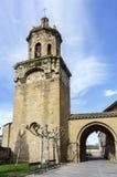 Kirche des Kruzifixs Puente-La Reina, Navarra spanien stockbild