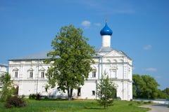 Kirche des Lobs der Mutter des Gottes im Danilov-Kloster der Heiligen Dreifaltigkeit Pereslavl Zalessky, das Goldene Lizenzfreie Stockfotografie