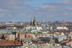 Kirche des Retters auf Blut im St Petersburg, Russland Stockbild
