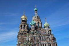 Kirche des Retters auf Blut in Petersburg, Russland Stockbilder