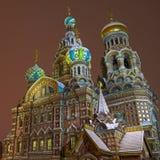 Kirche des Retters auf Blut in St Petersburg Stockbild