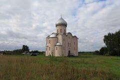 Kirche des Retters auf Nereditsa Stockfoto