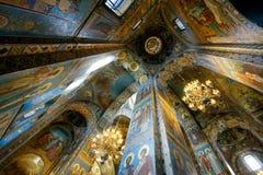 Kirche des Retters auf verschüttetem Blut, Innen Lizenzfreie Stockbilder