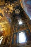 Kirche des Retters auf verschüttetem Blut, Innen Stockfotografie