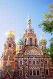 Kirche des Retters auf verschüttetem Blut St Petersburg, Russland Lizenzfreies Stockfoto