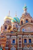 Kirche des Retters auf verschüttetem Blut St Petersburg, Russland Stockfotos