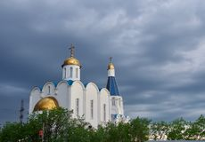 Kirche des Retters in Murmansk-Stadt Stockfotos