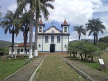 Kirche des Rosenbeetes, Barrão de Cocais in historischem Patrimonium Minas Geraiss lizenzfreie stockfotografie