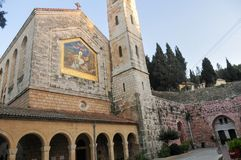 Kirche des Visitation - Jerusalem, Israel stockbild
