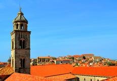 Kirche in Dubrovnik, Kroatien stockbilder