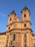 Kirche in Eger Stockbild