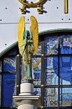 Kirche f.m. Steinhof i Wien, Österrike Royaltyfria Foton
