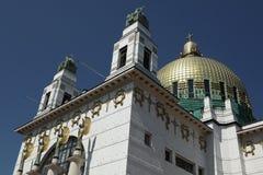 Kirche f.m. Steinhof i Wien, Österrike Royaltyfri Bild