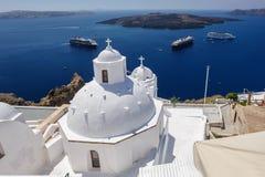 Kirche in Fira, Santorini Stockfoto
