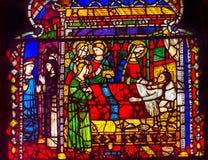 Kirche Florence Ita Mary Death Stained Glass Windows Orsanmichele lizenzfreies stockbild