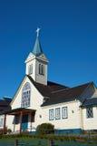 Kirche in Frutillar Stockbild
