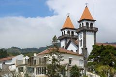 Kirche in Furnas von Sao Miguel stockfotografie