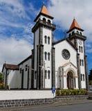 Kirche in Furnas von Sao Miguel lizenzfreie stockbilder