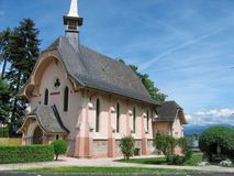 Kirche in Genf, die Schweiz Stockbild