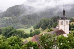 Kirche Gruyeres St. Theoduls Stockfotos