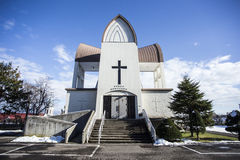 Kirche in Hakodate Stockbild