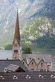 Kirche in Hallstatt Stockfotos