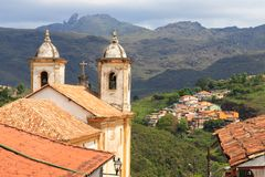 Kirche Igreja Nossa Senhora tun Carmo, Ouro Preto Lizenzfreie Stockfotografie