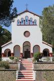 Kirche im Dorf Eleoussa, Rhodos Lizenzfreies Stockfoto