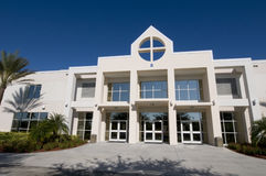 Kirche im Palmen-Schacht, Florida Stockfotografie